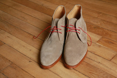 Chukka boots veau velours Taupe Ypson's