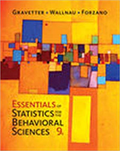 Essentials of Statistics for The Behavioral Sciences 9th Edition PDF (ebook)