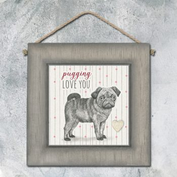 Hanging pugging love you pic