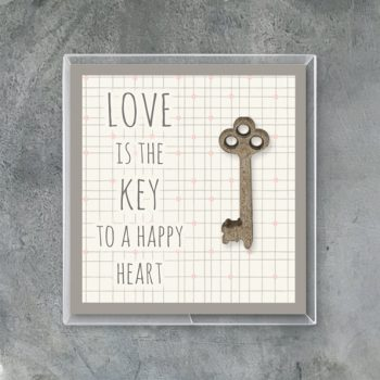 Wood key in box love