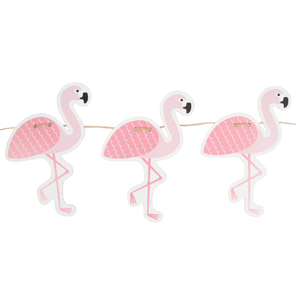TROPICAL SUMMER FLAMINGO PAPER BUNTING