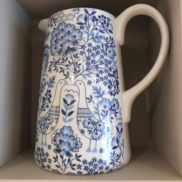 Gisela graham jug blue and white