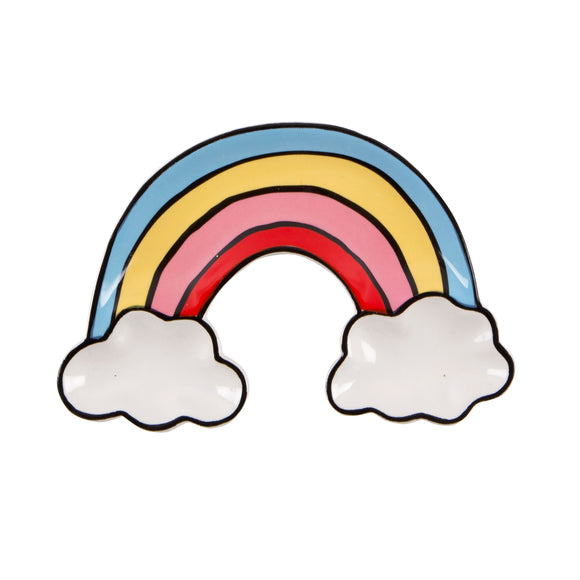 Rainbow with clouds trinket dish