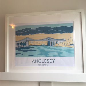 Menai Bridge print by Clare Corrfield