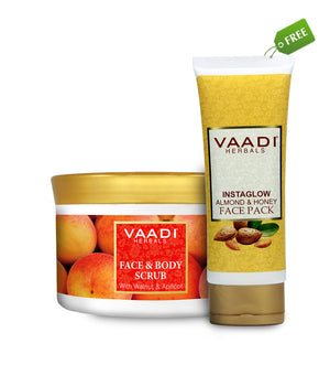 Organic Face & Body Scrub with Walnut ( 500 gms ) with free Organic Fruit Face Pack (120 gms)