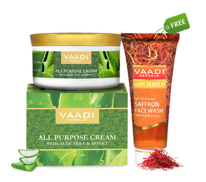 Organic All Purpose Cream (150 gms) with free Organic Saffron Face Wash (60 ml)
