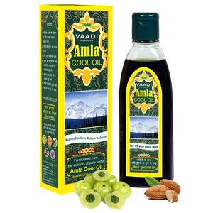 Organic Brahmi Amla Cool Oil - Strengthens and Nourishes Hair - Relieves Stress - Promotes Sound Sleep (100ml/3.5 fl oz)