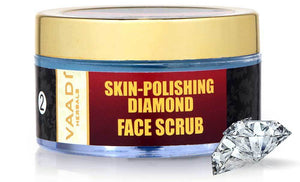 Skin Polishing Organic Diamond Scrub with Diamond Ash & Orange Oil - Hydrates & Nourishes Skin ( 50 gms/2 oz)