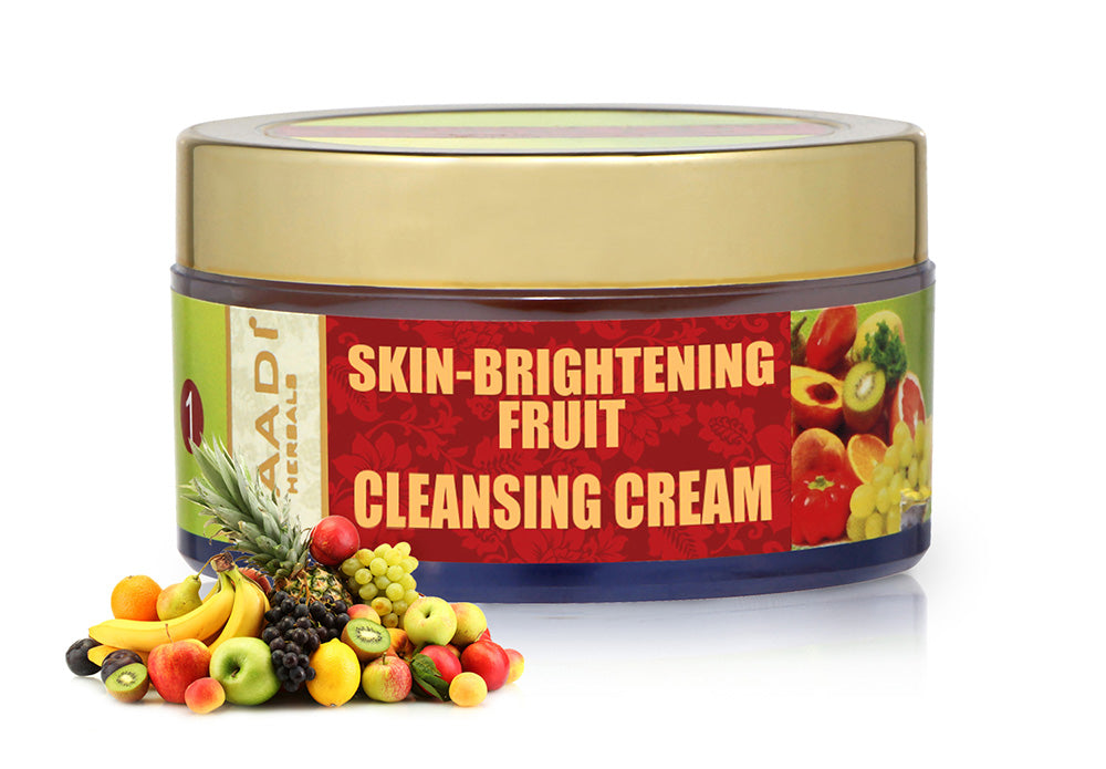 Skin Brightening Organic Fruit Cleansing Cream with Orange Extract & Turmeric - Removes Sun Tan - Lightens Complexion (50 gms /2oz)