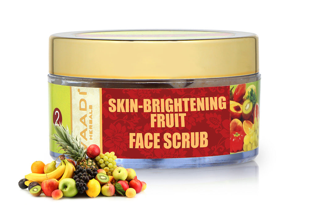 Skin Brightening Organic Fruit Scrub with Orange Extract & Turmeric - Removes Sun Tan - Lightens Complexion ( 50 gms /2oz)