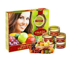 Skin Brightening Organic Fruit Facial Kit - For Deep Nourishment - Reducing Marks (270 gms / 9.6 oz)