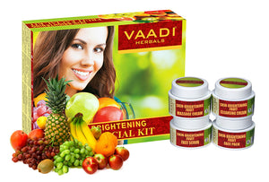 Skin Brightening Organic Fruit Facial Kit - For Deep Nourishment - Reducing Marks (70 gms / 2.5 oz)