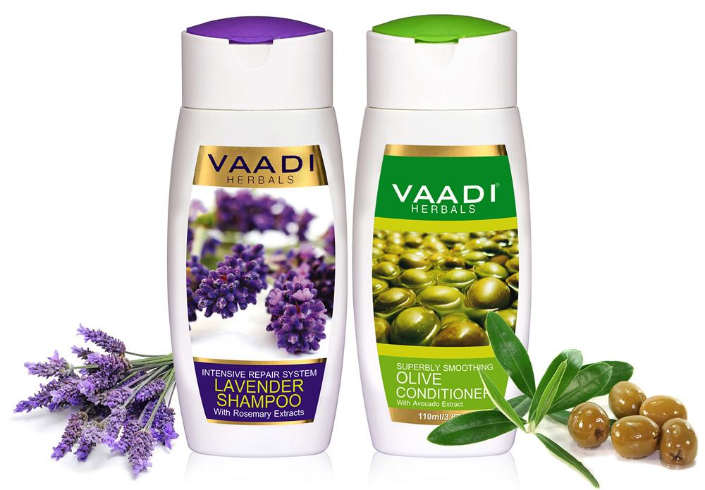 Lavender Shampoo with Olive Conditioner (2 x 110 ml/4 fl oz)