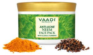 Organic Neem Face Pack with Clove & Turmeric - Removes Acne and Pigmentation Marks - Clears Impurities and Soothes Skin (600 gms /21.2 oz)