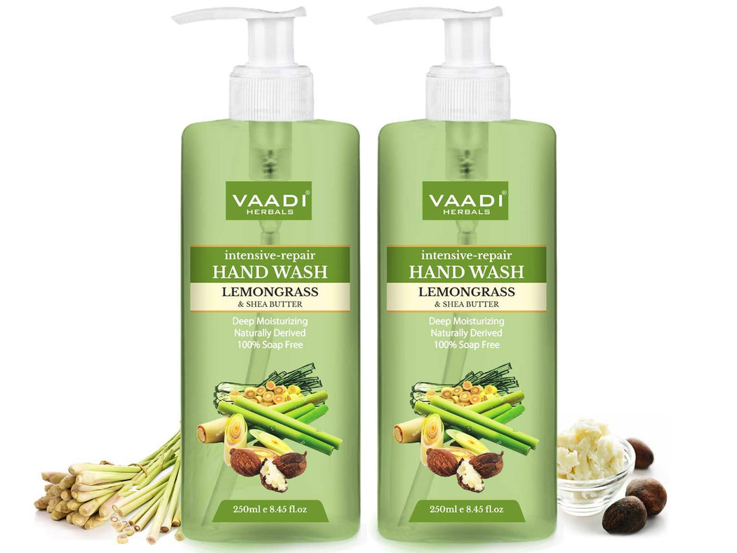 Pack of 2 Intensive-Repair Organic Lemongrass & Shea Butter Hand Wash (2 x 250 ml / 8.5 fl oz )