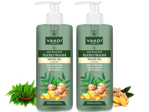 Pack of 2 Anti-Bacterial Organic Neem Oil & Ginger Hand Wash (2 x 250 ml / 8.5 fl oz )