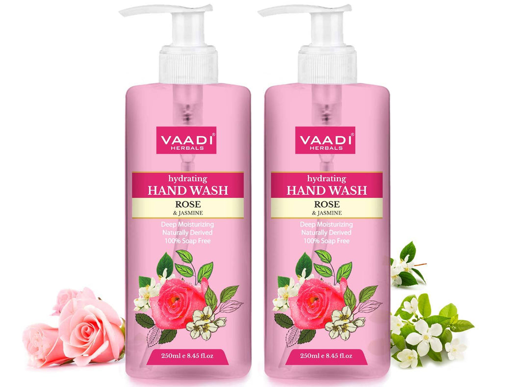 Pack of 2 Hydrating Organic Rose & Jasmine Hand Wash (2 x 250 ml / 8.5 fl oz )