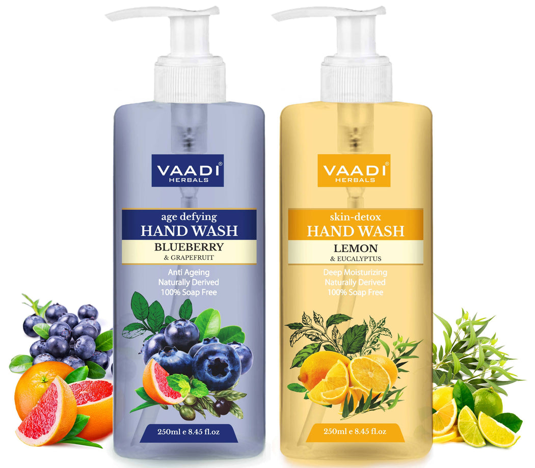So Refreshing - Pack of 2 Luxurious Handwash - Organic Blueberry & Lemon (2 x 250 ml / 8.5 fl oz )