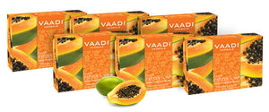 Organic Fresh Papaya Soap - Clears Impurities off Skin - Lightens Skin Tone - Gives a Natural Glow (6 x 75 gms / 2.7 oz)