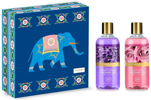 Exotic Floral Shower Gels Gift Box - Enachanting Rose & Mogra 300 ml & Heavenly Lavender & Rosemary 300 ml (300 ml x 2)