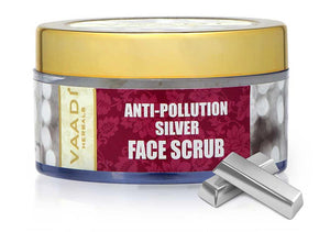 Organic Silver Scrub with Pure Silver Dust & Sandalwood Oil - Deep Cleanses Skin - Keeps Skin Soft (50 gms/ 2oz)