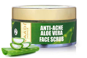 Anti Acne Organic Aloe Vera Scrub - Removes Skin Impurities - Keeps Skin Soft (50 gms/ 2 oz)