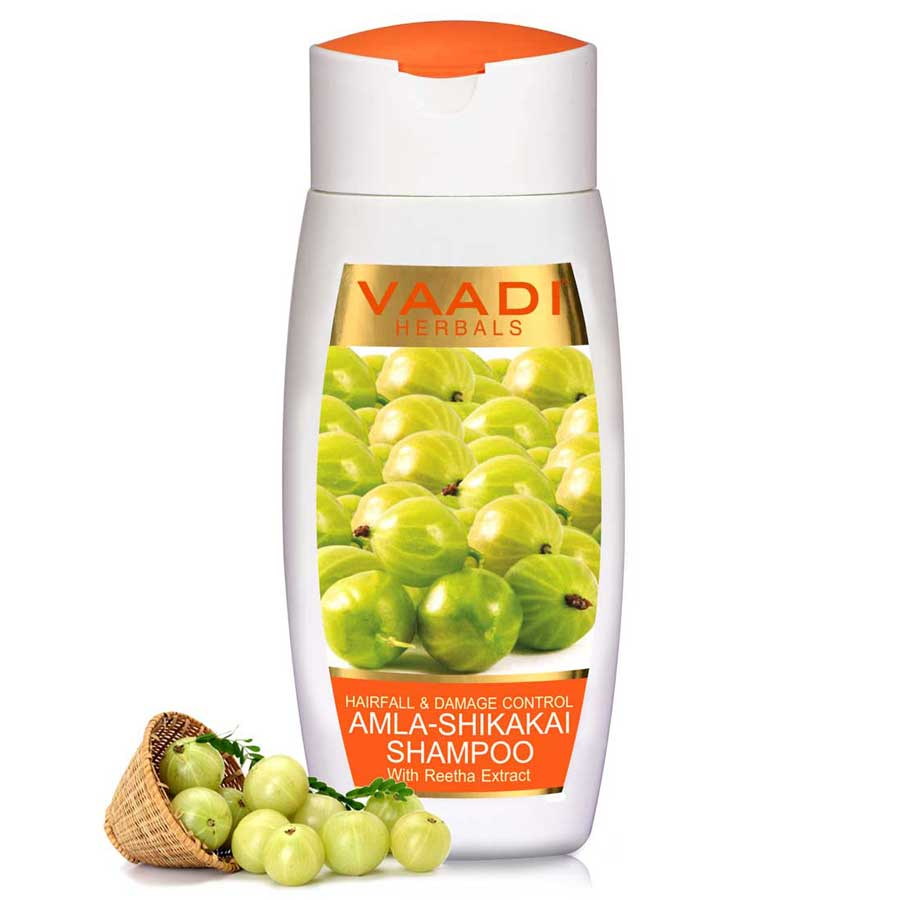 Hairfall & Damage Control Organic Shampoo (Indian Gooseberry Extract) - Promotes Hair Growth - Adds Shine to Hair (110 ml/4 fl oz)