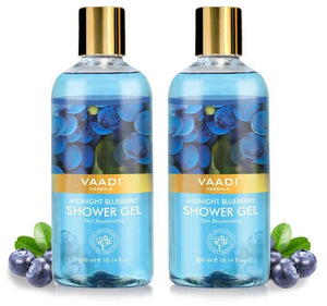 Midnight Organic Blueberry Shower Gel - Skin Tightening Therapy - Prevents Pre-Mature Ageing (2 x 300 ml / 10.2 fl oz)