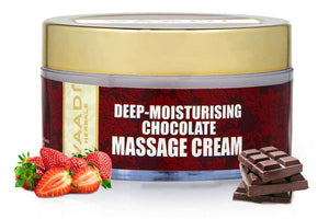 Deep Moisturising Organic Chocolate Massage Cream with Strawberry Extract - Softens Skin - Makes Skin Radiant (50 gms / 2 oz)