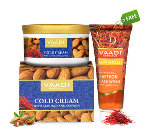 Organic Cold Cream (150 gms) with free Organic Saffron Face Wash (60 ml)