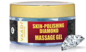 Skin Polishing Organic Diamond Massage Gel with Diamond Ash & Orange Oil - Hydrates & Nourishes Skin ( 50 gms/2 oz)