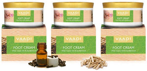 Organic Foot Cream with Clove & Sandalwood Oil - Softens Dry & Cracked Feet - Deep Moisturises (3 x 150 gms / 5.3 oz)