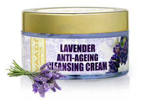 Anti Ageing Organic Lavender Cleansing Cream with Rosemary Extract - Boosts Cellular Renewal - Keeps Skin Firm (50 gms / 2 oz)