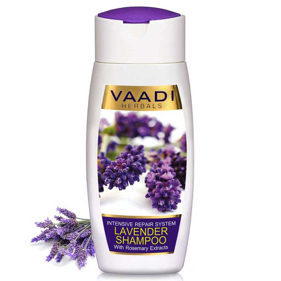 Intensive Repair Organic Lavender Shampoo with Rosemary Extract- Improves Hair Growth - Ultra Nourishing (110 ml/ 4 fl oz)