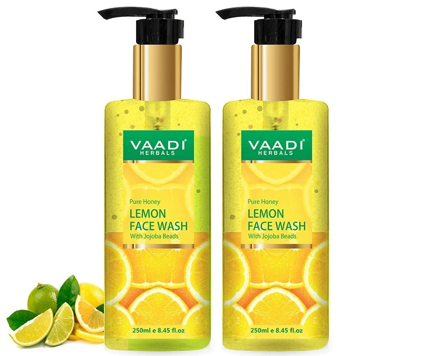 Honey Lemon Face Wash with Jojoba Beads (2 x 250 ml/8.45 fl oz)