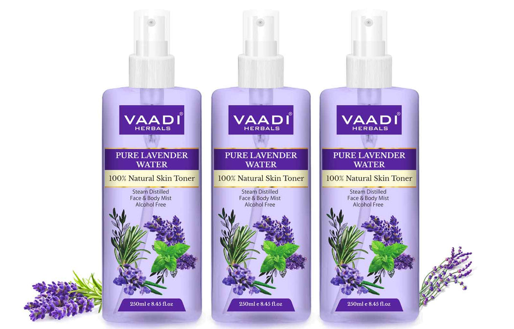Lavender Water - 100% Natural & Pure Skin Toner (3 x 250 ml / 8.5 fl oz)