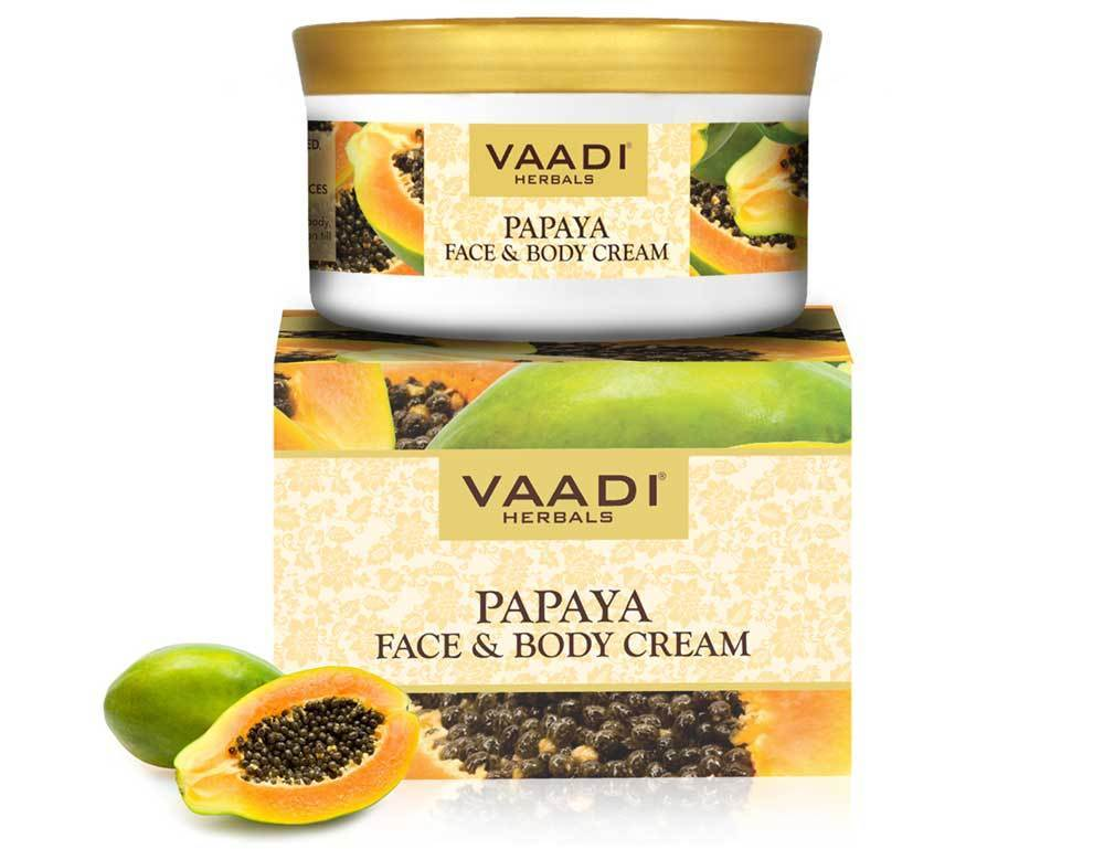 Organic Papaya Face & Body Cream - Maintains Skin Elasticity - Keeps Skin Youthful (150 gms/ 5.3 oz)