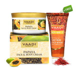 Organic Papaya Face & Body Cream (150 gms) with free Organic Saffron Face Wash (60 ml)