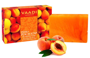 Organic Perky Peach Soap with Almond Oil - Skin Nourishing - Rehydrates (75 gms / 2.7 oz)