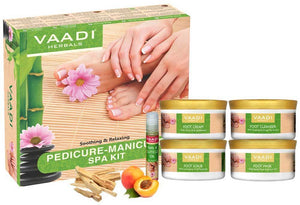 Organic Pedicure Manicure Spa Kit with Grapeseed Extract & Fenugreek - Deep Moisturises Skin - Repairs Damaged Skin - Removes Dead Skin (640 gms / 22.6 fl oz)