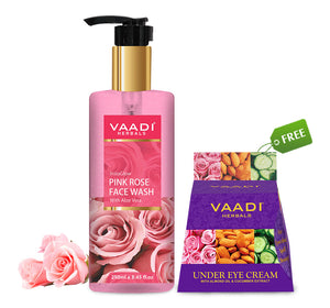 Organic Pink Rose Face wash (250 ml) with free Organic Under Eye Cream (30 gms)