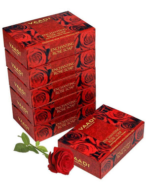 Enchanting Organic Rose Soap with Mulberry Extract - Anti Pigmentation Therapy - Lightens Dark Spots & Patches (6 x 75 gms/2.7 oz)