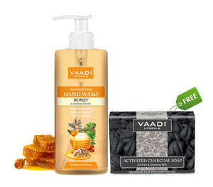 Organic Honey & Sandal Hand Wash (250 ml ) with free Charcoal Soap (75 gms)