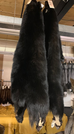 black bear fur pelts real