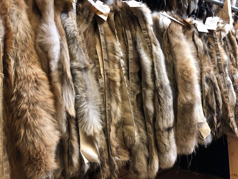 commercial quality coyote parka hood ruffs