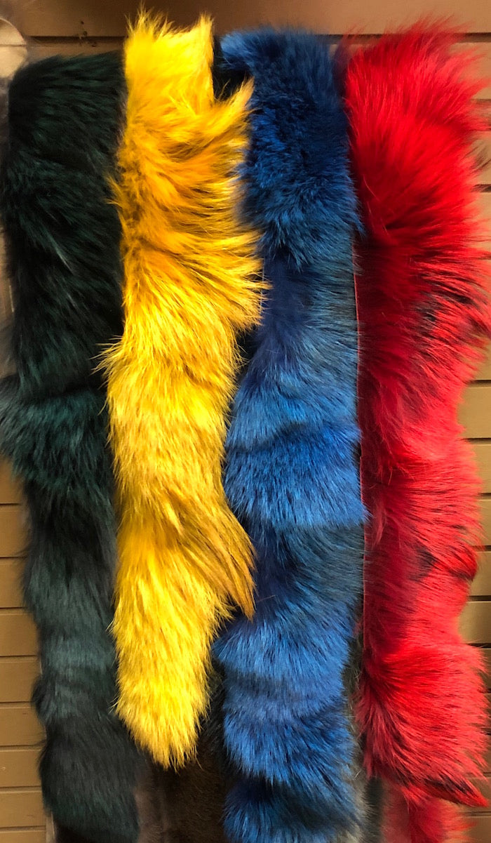 Dyed Coyote Fur stripping