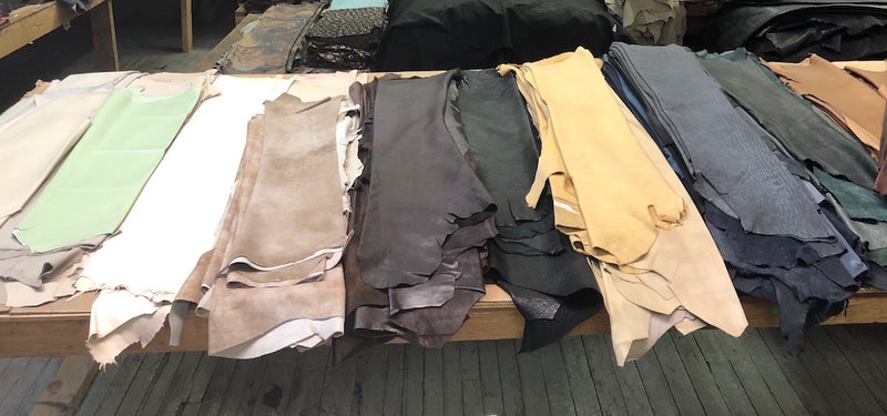 Assorted Single Colour Lambskin Leather
