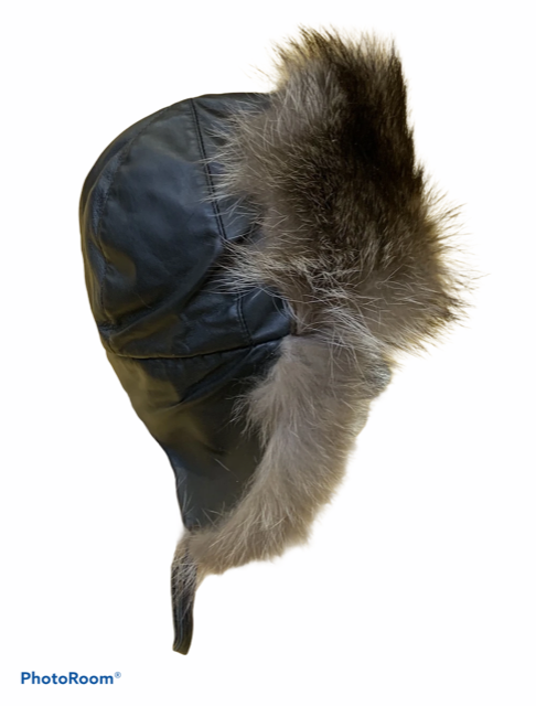 Men's Raccoon Aviator Hat - Bill Worb Furs Inc.