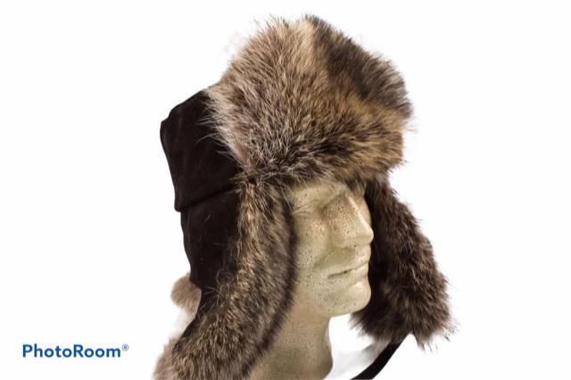 Men's Raccoon Trooper Hat - Bill Worb Furs Inc.
