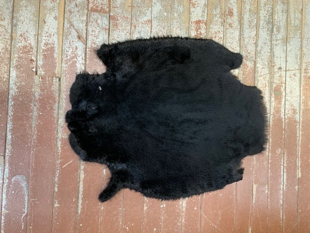 dyed sheared beaver pelts real
